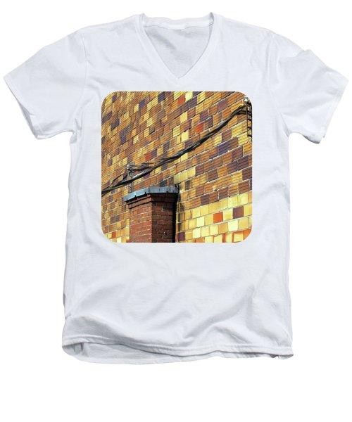 Bricks And Wires Men's V-Neck T-Shirt