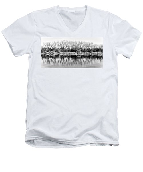 Rippled Reflection Men's V-Neck T-Shirt by Bill Kesler