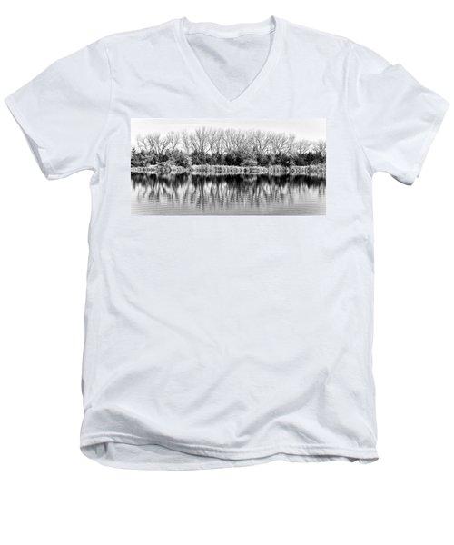 Rippled Reflection Men's V-Neck T-Shirt