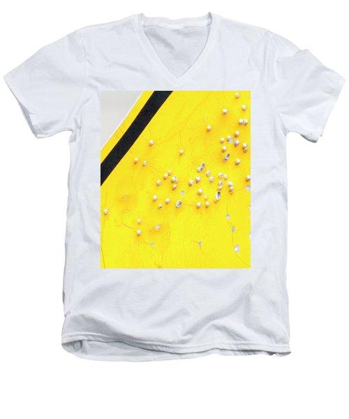 That's Not Braille Men's V-Neck T-Shirt by Bill Kesler