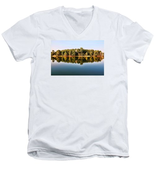 When Nature Reflects Men's V-Neck T-Shirt by Bill Kesler