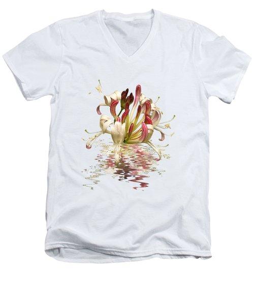 Honeysuckle Reflections Men's V-Neck T-Shirt