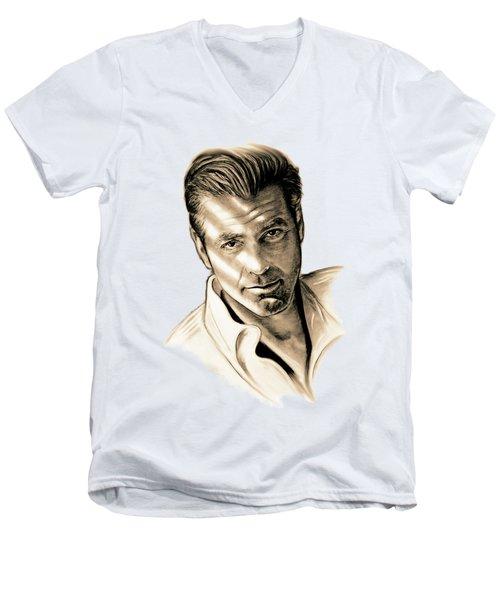 George Clooney Men's V-Neck T-Shirt