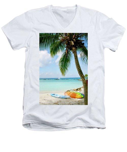 Aruban Oasis Men's V-Neck T-Shirt