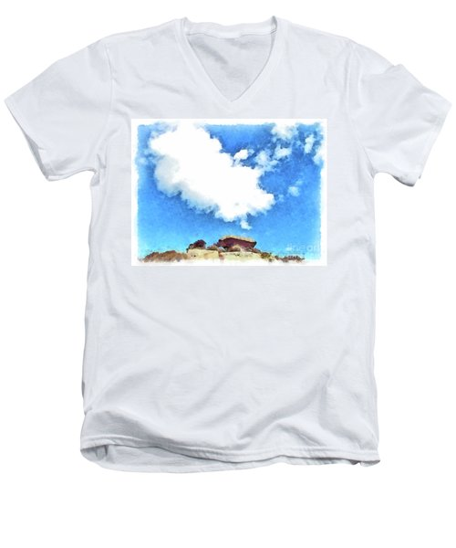 Arzachena Mushroom Rock With Cloud Men's V-Neck T-Shirt