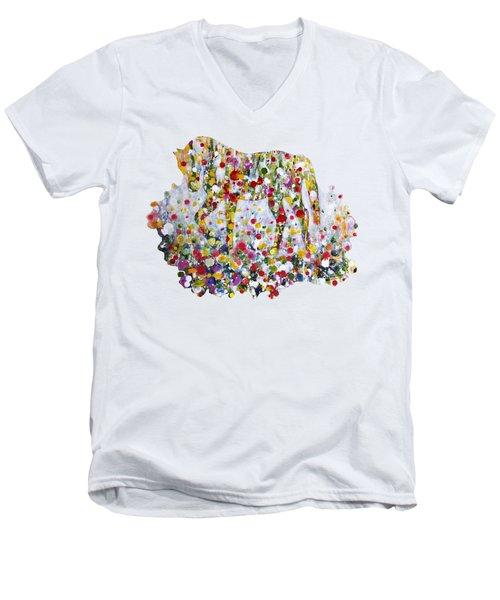 As One Men's V-Neck T-Shirt by Kume Bryant