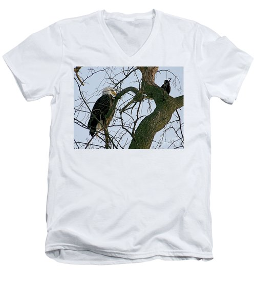 As The Eagle Looks On Men's V-Neck T-Shirt by Sue Stefanowicz