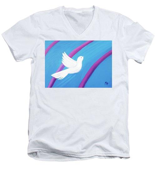 Ascending Men's V-Neck T-Shirt by Margaret Harmon