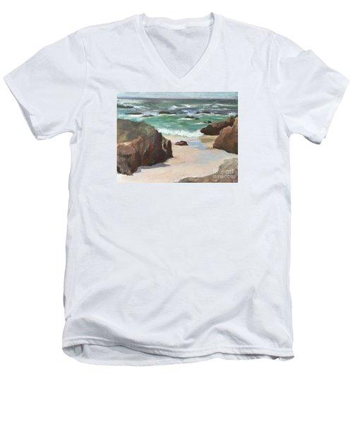 Asilamor Beach Monterey Ca Men's V-Neck T-Shirt