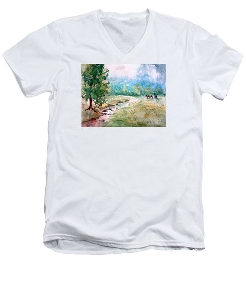 Aska Farm Creek Men's V-Neck T-Shirt