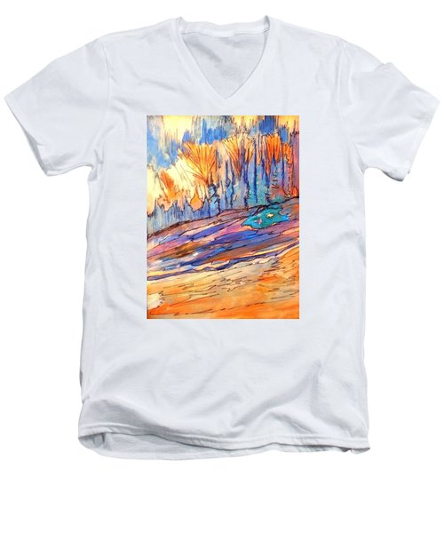 Aspen Abstract Men's V-Neck T-Shirt