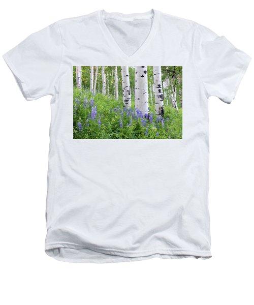 Aspen And Lupine Men's V-Neck T-Shirt