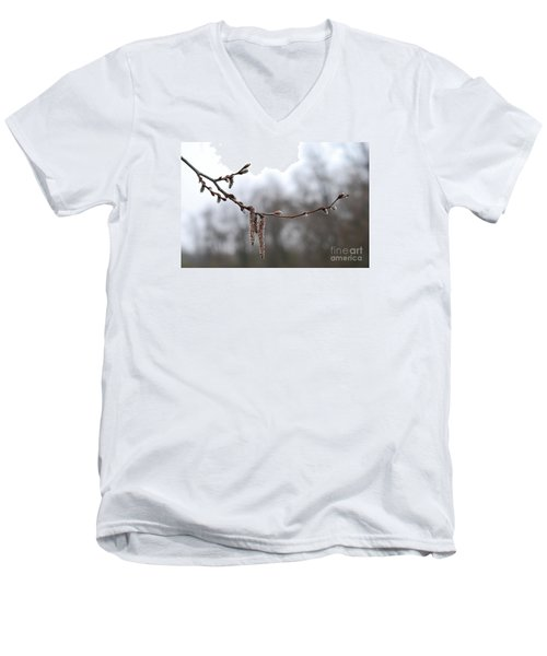 Men's V-Neck T-Shirt featuring the photograph Aspen Catkins 20120316_15a by Tina Hopkins