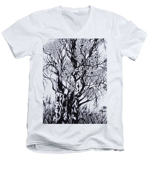 Aspens Men's V-Neck T-Shirt by Anna  Duyunova