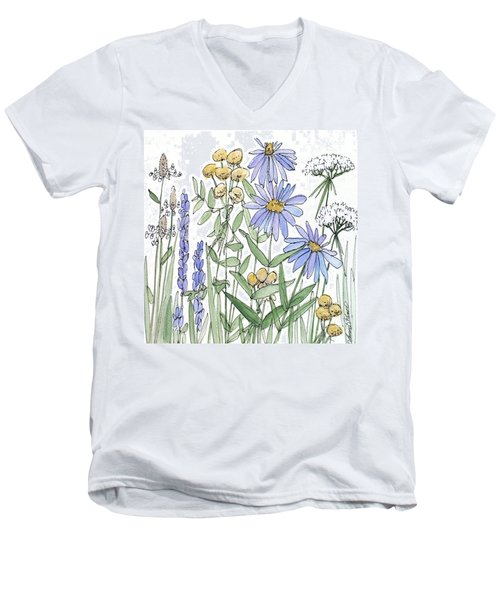 Asters And Wildflowers Men's V-Neck T-Shirt