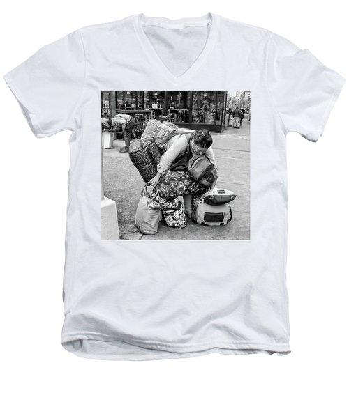 Bag Lady Men's V-Neck T-Shirt