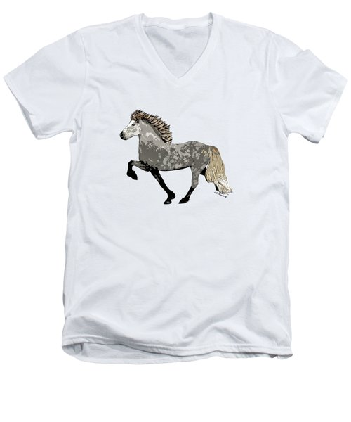 Men's V-Neck T-Shirt featuring the painting Astrid by Shari Nees