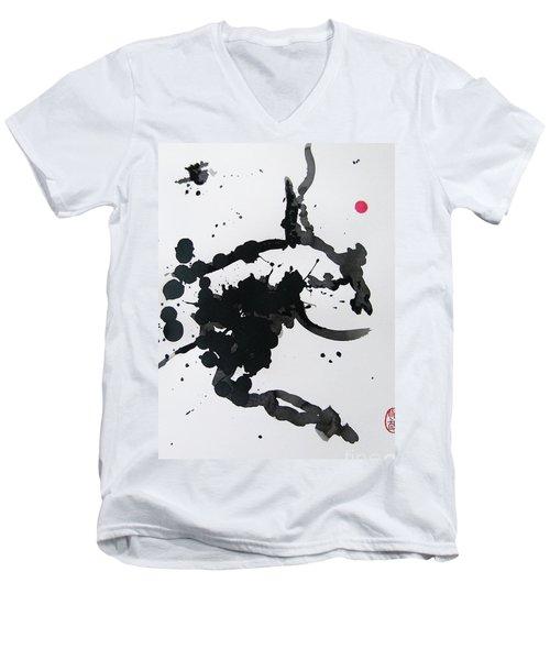 Asymmetry Inspires Grace Men's V-Neck T-Shirt by Roberto Prusso