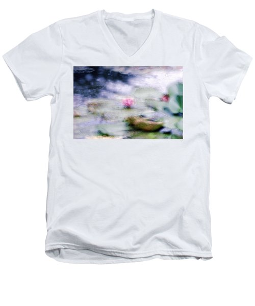 At Claude Monet's Water Garden 12 Men's V-Neck T-Shirt