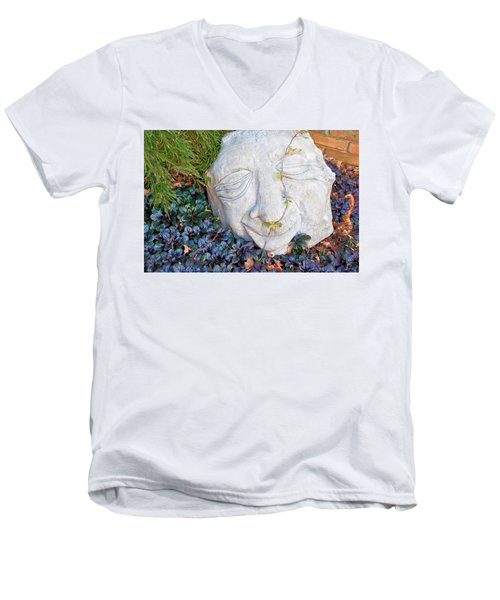 Men's V-Neck T-Shirt featuring the photograph At Least Someone's Happy by Jan Amiss Photography