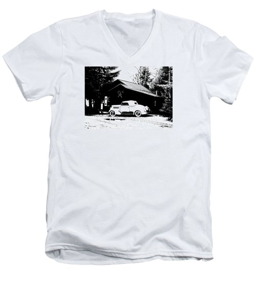 At The Cabin Men's V-Neck T-Shirt