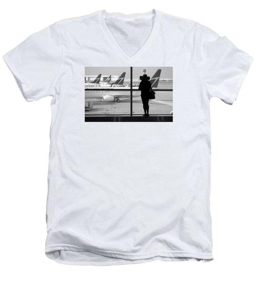 At The Gate Men's V-Neck T-Shirt by Valentino Visentini