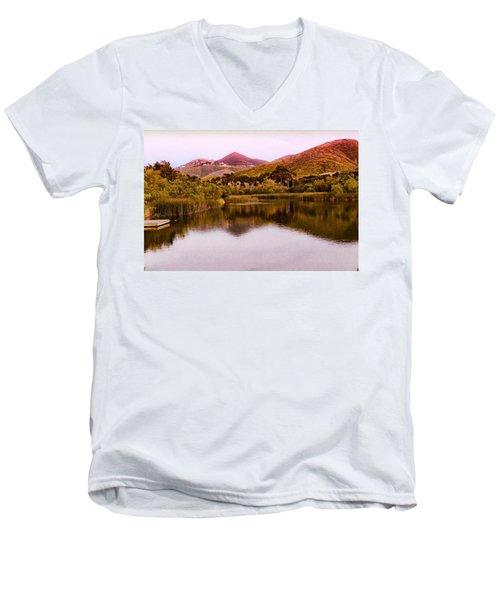 At The Lake Men's V-Neck T-Shirt