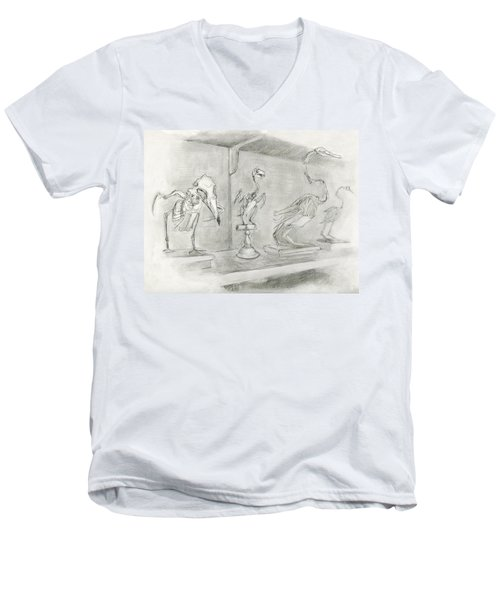 Bird Skeletons Men's V-Neck T-Shirt