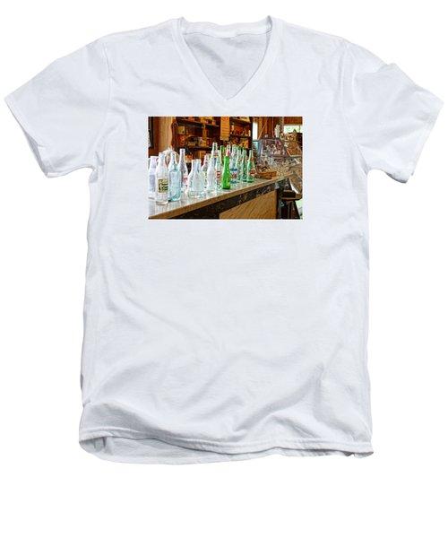 At The Store Men's V-Neck T-Shirt by Steven Clipperton