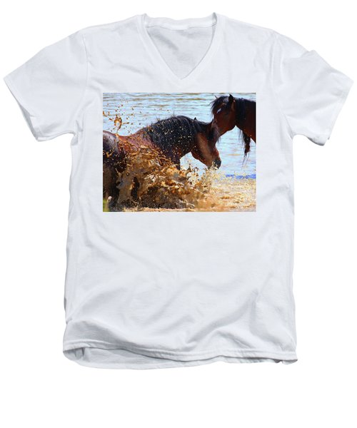 At The Watering Hole Men's V-Neck T-Shirt