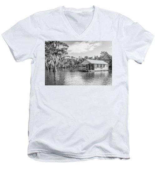 Atchafalaya Basin Fishing Camp Men's V-Neck T-Shirt