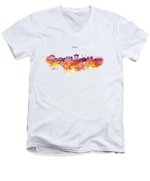 Athens Skyline Men's V-Neck T-Shirt