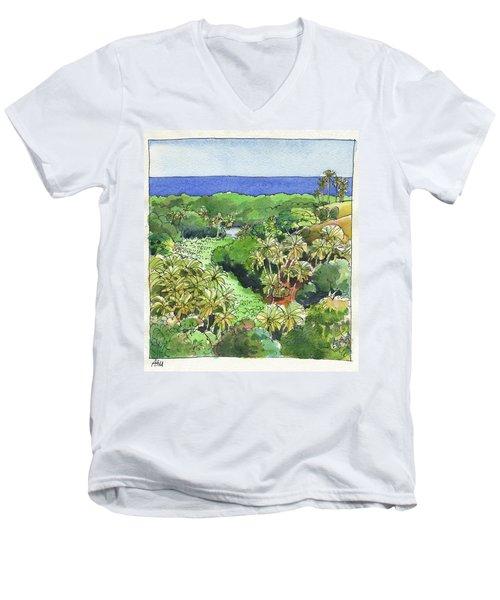 Atiu Lake View Men's V-Neck T-Shirt