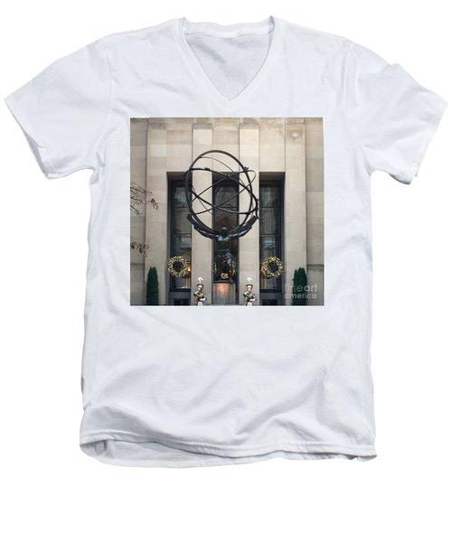 Atlas Statue Men's V-Neck T-Shirt