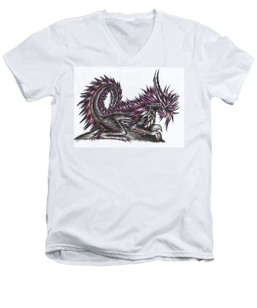 Atma Weapon Catoblepas Fusion Men's V-Neck T-Shirt by Shawn Dall