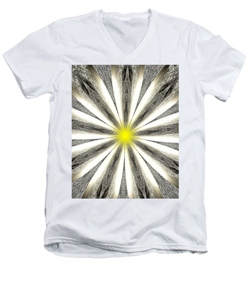 Atomic Lotus No. 4 Men's V-Neck T-Shirt by Bob Wall