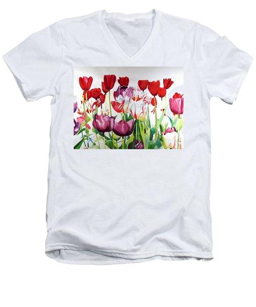 Attention Men's V-Neck T-Shirt