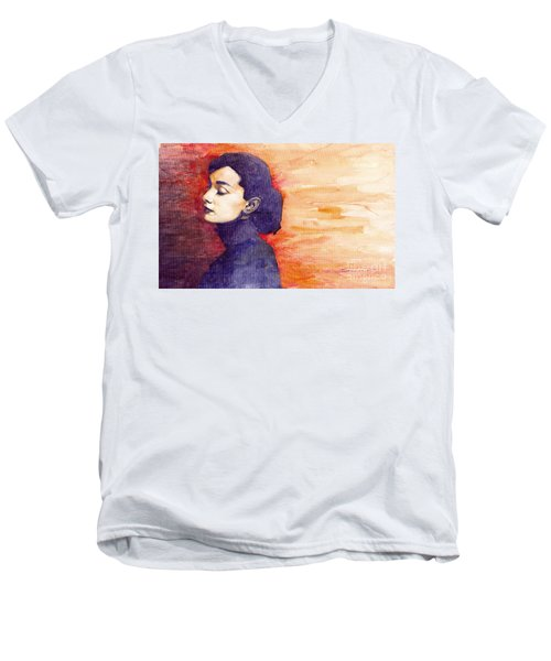 Audrey Hepburn 1 Men's V-Neck T-Shirt