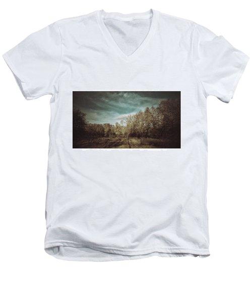 Auf Der Wiese Kein Men's V-Neck T-Shirt