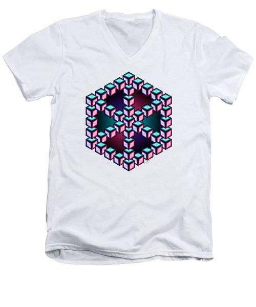Aurelia Cube 2 Men's V-Neck T-Shirt