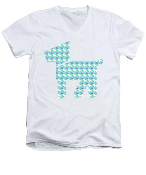 Aussie Dog Pattern Men's V-Neck T-Shirt