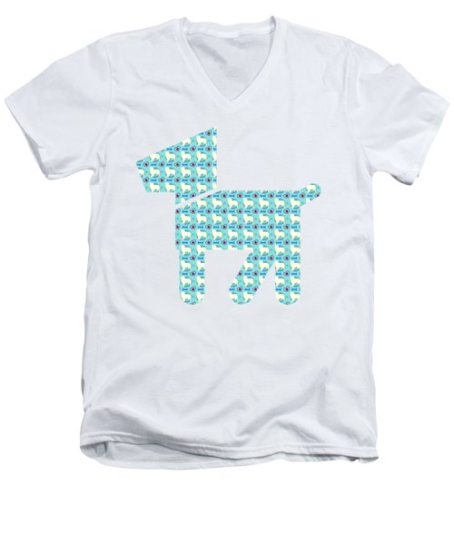 Aussie Dog Pattern Men's V-Neck T-Shirt