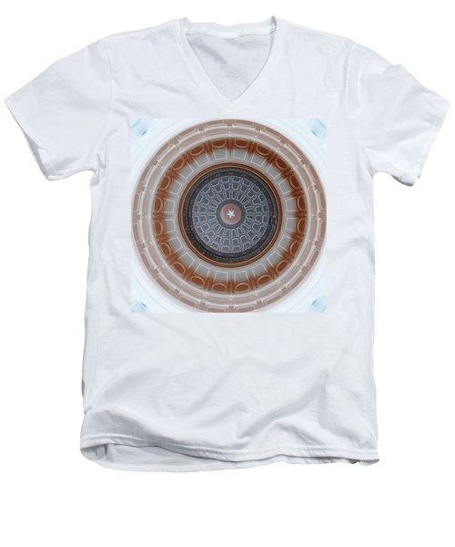Austin Dome In Gray/brown Men's V-Neck T-Shirt by Karen J Shine
