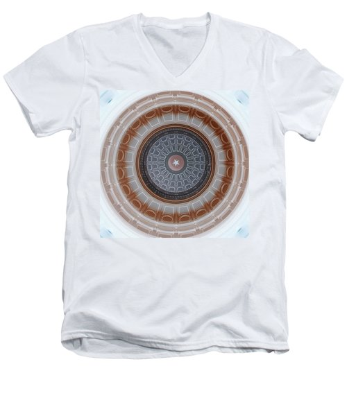 Austin Capitol Dome In Gray And Brown Men's V-Neck T-Shirt