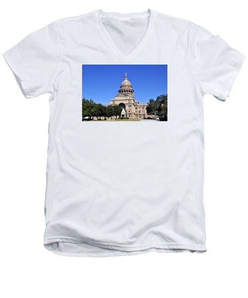 Austin State Capitol Men's V-Neck T-Shirt
