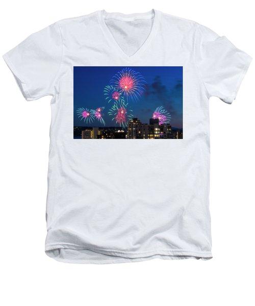 Australia 1 Men's V-Neck T-Shirt by Ross G Strachan