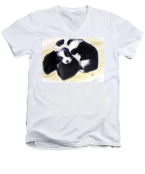 Australian Cattle Dog Puppies Men's V-Neck T-Shirt