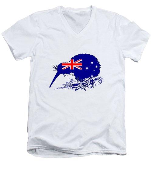 Australian Flag - Kiwi Bird Men's V-Neck T-Shirt