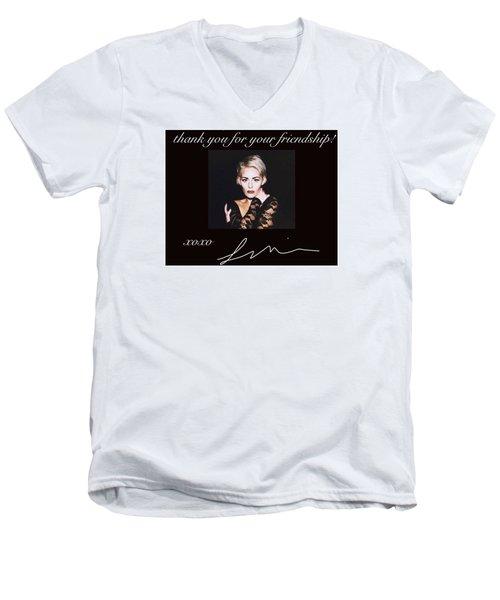 Autographed Portrait  Men's V-Neck T-Shirt