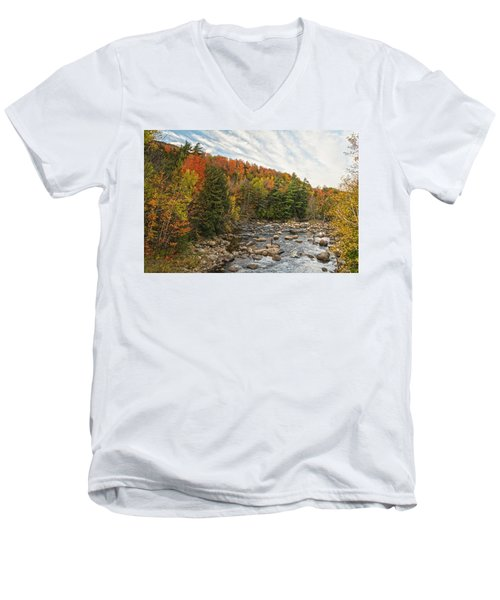 Autumn Adirondack Angling Men's V-Neck T-Shirt